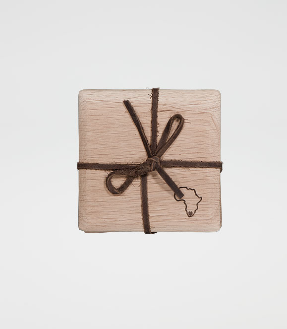 Square Tapered Coaster Set Africa