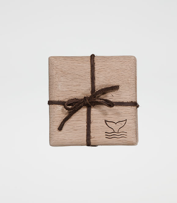 Square Tapered Coaster Set Whale