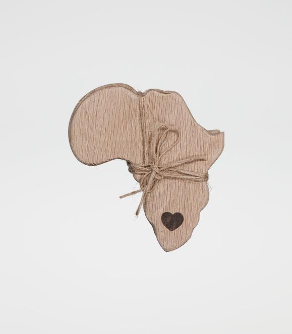 Africa Coaster Set Heart
