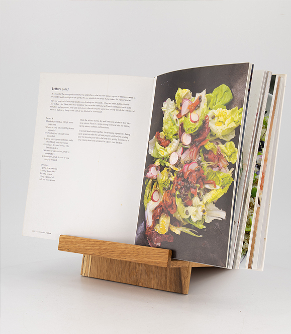 Cook Book Stand with Oiled finish